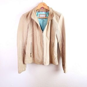 WILSONS LEATHER  Med Tan 100% leather Moto Jacket